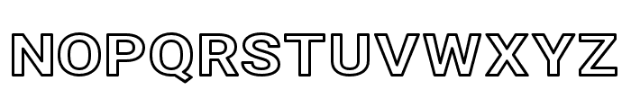 Asimov Extra Wide Outline Font UPPERCASE