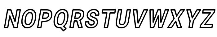 Asimov Narrow Outline Italic Font UPPERCASE