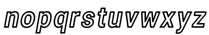 Asimov Narrow Outline Italic Font LOWERCASE