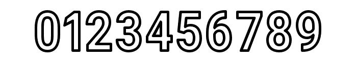 Asimov Narrow Outline Font OTHER CHARS