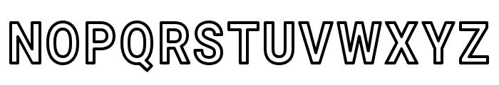 Asimov Narrow Outline Font UPPERCASE