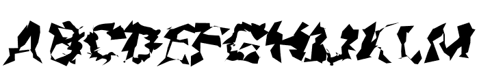 Asimov Silicon Wide Italic Font UPPERCASE