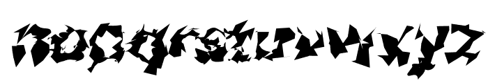 Asimov Silicon Wide Italic Font LOWERCASE