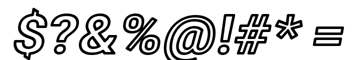 Asimov Wide Outline Italic Font OTHER CHARS