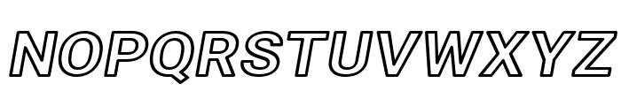Asimov Wide Outline Italic Font UPPERCASE