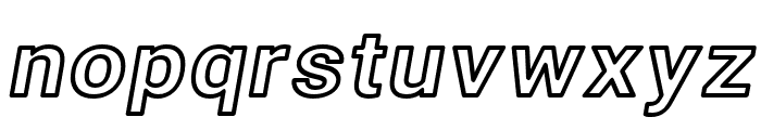 Asimov Wide Outline Italic Font LOWERCASE