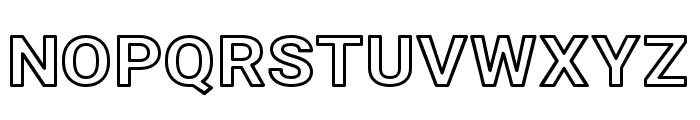Asimov Wide Outline Font UPPERCASE