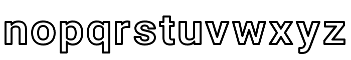 Asimov Wide Outline Font LOWERCASE