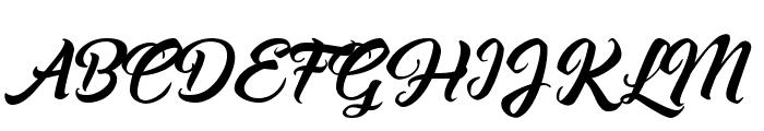 Asiyah Script Font UPPERCASE