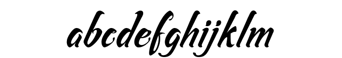 Asiyah Script Font LOWERCASE