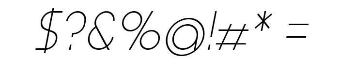 Aspergit-Italic Font OTHER CHARS