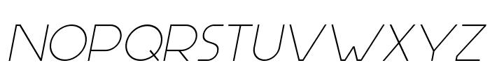 Aspergit-Italic Font UPPERCASE