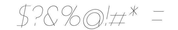 Aspergit-LightItalic Font OTHER CHARS