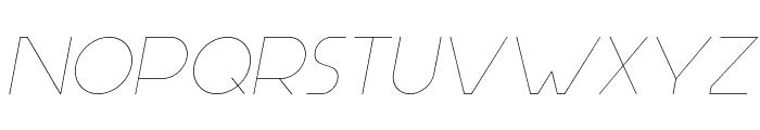 Aspergit-LightItalic Font UPPERCASE