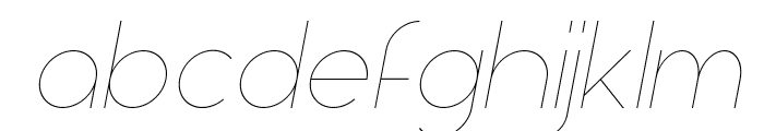 Aspergit-LightItalic Font LOWERCASE