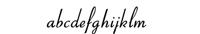 Aspire DemiBold Font LOWERCASE