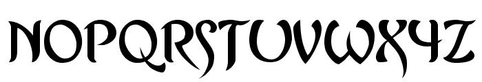 Asrafel Font UPPERCASE