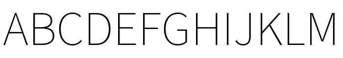 Assistant ExtraLight Font UPPERCASE