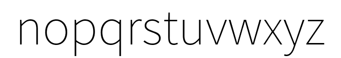 Assistant ExtraLight Font LOWERCASE