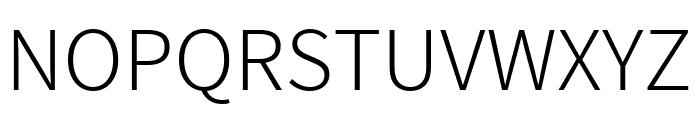 Assistant Light Font UPPERCASE