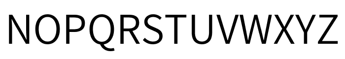 Assistant Regular Font UPPERCASE