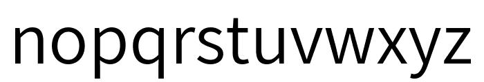 Assistant Regular Font LOWERCASE