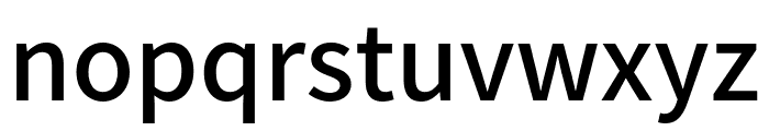 Assistant SemiBold Font LOWERCASE