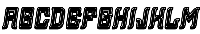 Assyrian 3D Filled Italic Font LOWERCASE