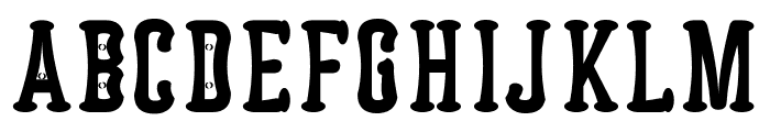 Astakhov Dished E Serif Font UPPERCASE