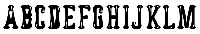 Astakhov Dished Glamour H Serif Font UPPERCASE