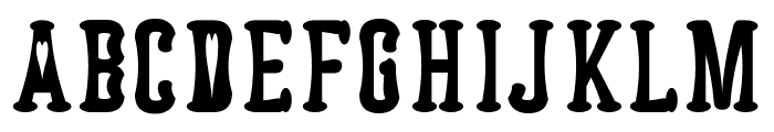 Astakhov Dished H Serif Font UPPERCASE