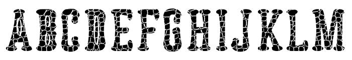 Astakhov Dished Skin E-F-2Serif Font UPPERCASE