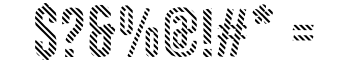 Astakhov First One Stripe DL Font OTHER CHARS