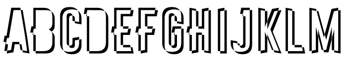 Astakhov First One Stripe SF Font UPPERCASE
