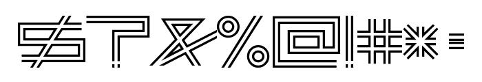 AsteriskDoubleLine Font OTHER CHARS