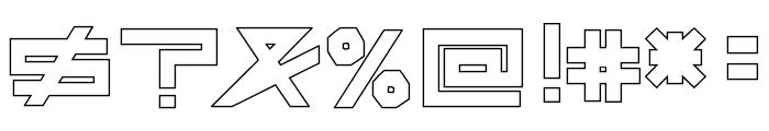 AsteriskHollowBold Font OTHER CHARS
