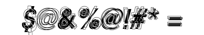 Astigma Regular Font OTHER CHARS