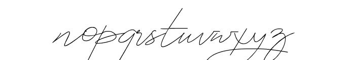 Astina Font LOWERCASE