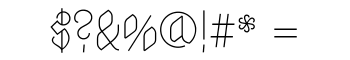 Astloch Regular Font OTHER CHARS