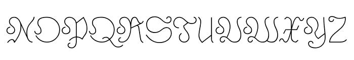 Astloch Regular Font UPPERCASE