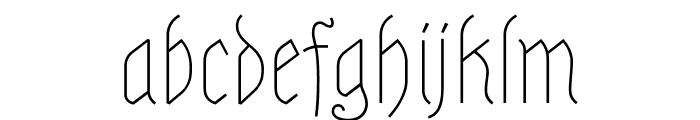 Astloch Regular Font LOWERCASE