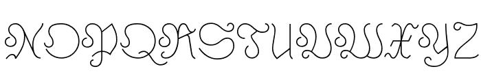 Astloch Font UPPERCASE