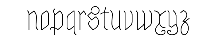 Astloch Font LOWERCASE
