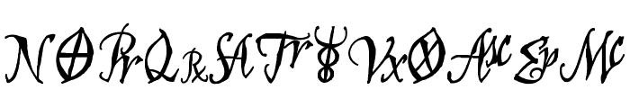 AstroScript Bold Font UPPERCASE