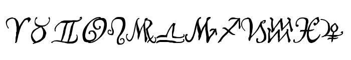 AstroScript Bold Font LOWERCASE