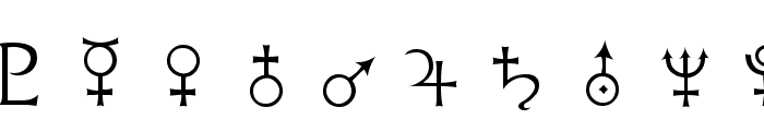 Astrological Font OTHER CHARS