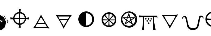 Astrological Font LOWERCASE