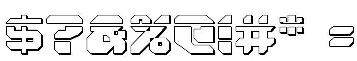 Astropolis Laser 3D Font OTHER CHARS