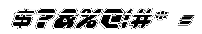 Astropolis Laser Academy Italic Font OTHER CHARS