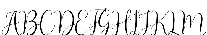 Asyiela Demo Regular Font UPPERCASE